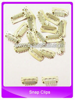 Wholesale Clips snap for Hair Extensions weft mm blonde