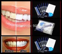 Cheap Wholesale-1Pack lot Home Use Teeth Tooth Whitener Whitening Bleaching Dental Gel Syringe Kits + LED LASER Light MY319