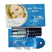 Cheap Wholesale-New Dental Whitening 44% Bleaching Oral Gel Kit Set Tooth Whitener PBT Safe Free shipping