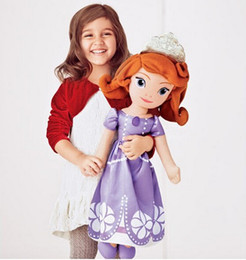 Wholesale-Free shipping 70 cm and 50 cm plush toy doll Princess Sofia Princess Sofia first plush toy doll soft plush toy doll girl