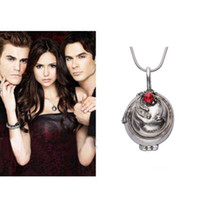 antique vampire - Hot Sale Stylish The Vampire Diaries Elena s Vervain Antique Silver Gold Locket Necklace NL