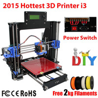 Wholesale New Acrylic Frame Reprap Prusa I3 D Printer D impressora Machine DIY KIT LCD Screen Acquired Control Kg Filament asGift