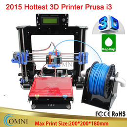 Wholesale New Full Acrylic Frame LCD Screen Acquired Reprap Prusa i3 desktop D Printer Machine impressora DIY Kit optional Filament