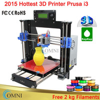 Wholesale Full Acrylic Frame LCD Screen Acquired Reprap Prusa i3 desktop D Printer Machine impressora DIY Kit KG Filament for Free