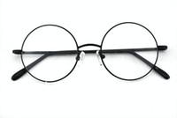 Wholesale mm VINTAGE ROUND EYEGLASS FRAMES FULL RIM Black EYE GLASSES MEN amp WOMEN EYEGLASSES PRESCRIPTION OPTICAL