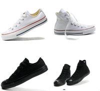 Cheap Wholesale-All Size 13 Colors Classic High  Low Tops For Men's and Women's Casual Sport Canvas Star Shoes Flat Sneakers Size 35-45