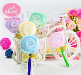 Wholesale-Get married with the reply creative cake towel wholesale aureate bowknot lollipops