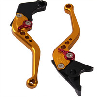 aluminium honda motorcycles - Adjustable High Quality Aluminium Alloy CNC Motorbike Motorcycle Brake Clutch Levers for CB400 Yellow