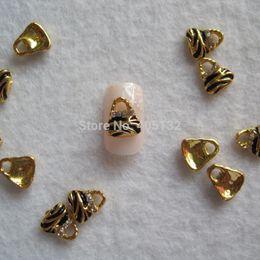 Wholesale-MD-718 3D 50pcs bag Gold Rhinestone Bag Deco Nail Decoration Metal Shinny Deco Metal Nail Art Decoration