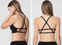 Wholesale New Sexy Women Crop Top Bustier Cutout Shirt Strappy Tank Camisole Yoga Sport