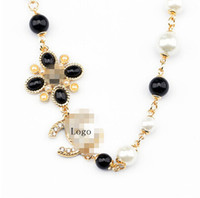 Wholesale Jewelry Fashion Necklaces For Women Accessories Channel Flower Pearl Ball Pendant Pendant Statement Necklace