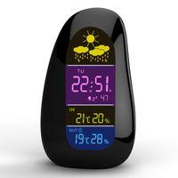 Cheap Wholesale- Cobblestone Weather Station Wireless Sensor LED Digitial Alarm Clock