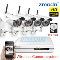 Wholesale Zmodo Wireless Security IP Camera System CH p Network Video Recorder cctv nvr kit wifi camera with tb hard disk