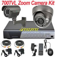 surveillance video camera - ch cctv kit security system indoor outdoor surveillance thermal digital camera CH full D1 HD DVR video recorder