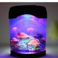 Wholesale Novelty LED Artificial Jellyfish Aquarium Lighting Fish Tank Night Light Dropshipping