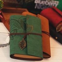 Wholesale Vintage Leather Journal Notebook Retro Craft Pape Spiral Diary Journals work Notebook Stationery Gift 3290
