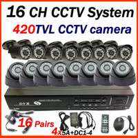 Wholesale by DHL EMS UPS CH CCTV system indoor outdoor tvl camera surveillance system