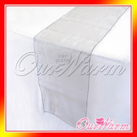Wholesale Pieces Brand New Dark Silver quot x108 quot Organza Table Runners Wedding Party Supply Decoration ManyColors Hot
