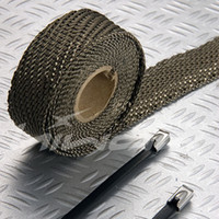 Cheap Wholesale-titanium turbo wrap,Thermal Wrap,Exhaust heat Wrap,1''*50'(include 5 FREE 304 stainless steel zip ties)