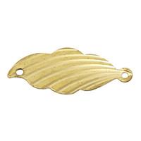 Wholesale B56865 Copper Connectors Blank Leaf Brass Tone Color mm quot x mm quot new
