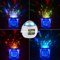 Wholesale For Gift New Music Starry Star Sky Projection Alarm Clock Calendar Thermometer