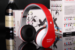 Wholesale-High Fidelity Surround Sound Noise Canceling Wireless Stereo Foldable Bluetooth Headphone Headset With Mic Support TF Card