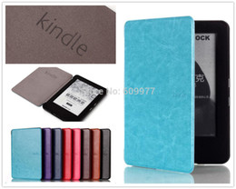 Wholesale For Amazon New Kindle inch th Gen Luxury Crazy Horse Ultra Slim Smart Leather Magnets Clasp E Book Case E Reader Cover