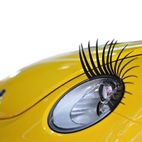 automotive stickers vinyl - Hot Selling New Cute Curly Eyelashes Sticker Black Phare Automotive Car Headlight Tuning Fits All Makes And Models HG