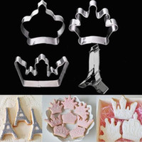 Wholesale Stainless Cookie Cutter Crown Tower Biscuit Cake Fondant Mold Metal Baking HI
