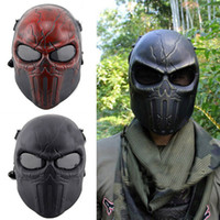 Wholesale DC Chastener Ear Protective Full Face Protection Airsoft Masks Adults Cs Field Game Punisher Scary Skull Paintball Mask Wargame Cosplay