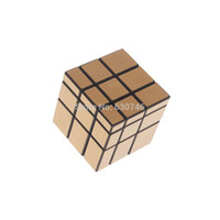 Wholesale 3x3x3 CY Gold Mirror Cube Magic Cube Black hot selling factory price DHL freeshipping high quality