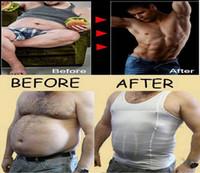 Cheap Wholesale-Men's Slimming underwear Body Shaper Belly Fatty sweatshirt Vest shirt Corset Compression