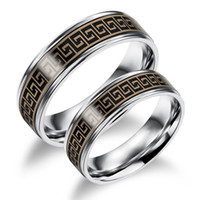 Wholesale 2016Maikun Fashion Lovers Party Rings Classical The Great Wall Design Full Steel Women Men Jewelry Ring