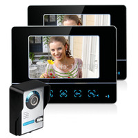 Wholesale New TFT Video Door Phone Doorbell Intercom Kit Camera Monitor Night Vision Electric Lock control V2 Peephole Camera