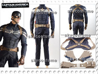 Wholesale Captain America Winter Soldier Steve Rogers Outfit Cosplay Costume Any Sizes halloween toycity gift stage play