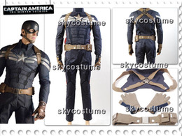 Wholesale Captain America Winter Soldier Steve Rogers Outfit Cosplay Costume Any Sizes