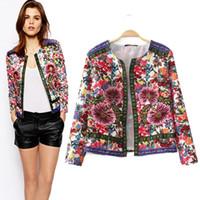 Wholesale New Fashion Women Ethnic Style Jacket Embroidered Jacquard Cardigans Coat A550