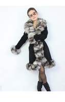 leather and fur garment - New Real Genuine Pig Leather And Fox Fur Jackets Coat Winter Warm Garment Outwear TP9006