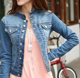 Discount Women Jean Jacket Plus Size  2017 Women Jean Jacket Plus