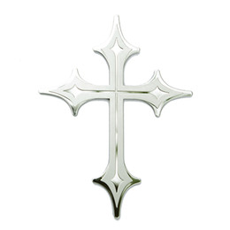 Wholesale TIROL T17363a Stainless Steel CROSS Emblem Auto Decoration Car Sticker Car Badges Styling Parts