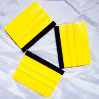 Wholesale Car Vinyl Film wrapping tools Scraper squeegee with felt edge size cm cm