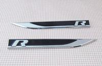 Wholesale Freeshipping Black R line FENDER side wing Emblem Badge Sticker for vw Passat CC TOUAREG TOURAN