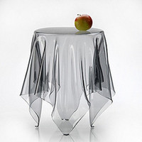 pvc table cloth - Small ultra thin soft glass table mat plastic table cloth transparent waterproof oil tablecloth pvc dining table cover