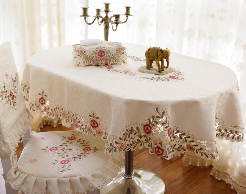 Wholesale Fashion Elliptical Table Cloth Oval Dining Table