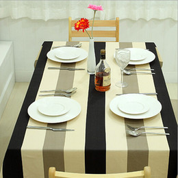 Wholesale-Free shipping zakka country style striped tablecloth