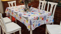 pvc table cloth - PVC Table Cloth Plastic Waterproof Oil Dining Tablecloth Coffee Printed Table Cover Overlay HD0075