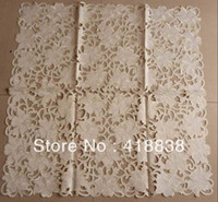 table covers - cmX90cm Polyester Embroidery Table cloth wedding table cloths Table Cover WS