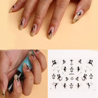 ru - Nail Art D Sticker Silver Crystal TinkerBell Fairy Angle Crown Halloween Pattern Nail Decoration Drop Shipping NA ru