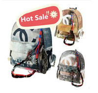 canvas backpacks - Famous Brand Import Canvas Graffiti Printed Women Lady Satchel Backpacks Casual Daypacks Ropes Girls Travel Shoulder School Bags