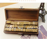 letters and numbers - SET Creative letters and numbers stamp set wood gift box wooden stamp wooden box set